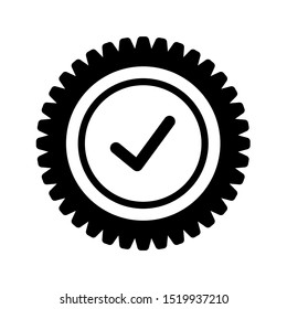 Quality check icon design. Quality check icon in trendy flat style design. Vector illustration.