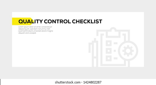 QUALITY CONTROL CHECKLIST AND ILLUSTRATION ICON CONCEPT