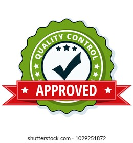 Quality Control Checkmark label illustration