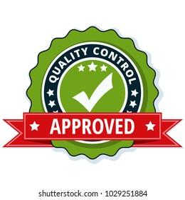 Quality Control Checkmark label illustration