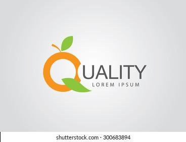 quality fruit logo design