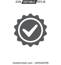Quality Guarantee flat Icon template isolated. Vector illustration