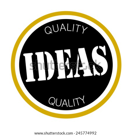 Quality Ideas Graphic Design Label Stock Vector (Royalty