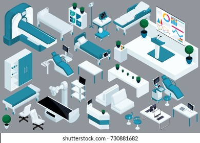Quality Isometry, 3D medical devices, hospital bed, MRI, X-ray scanner, ultrasound scanner, dental chair, operating room.
