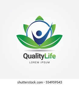 Quality Life Healthcare Logo Sign Symbol Icon