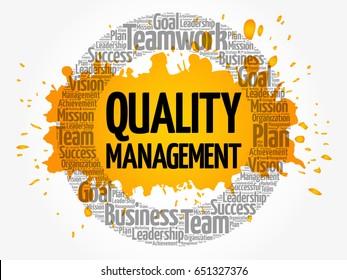Quality Management word cloud, business concept background