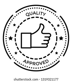 Quality stamp vector icon