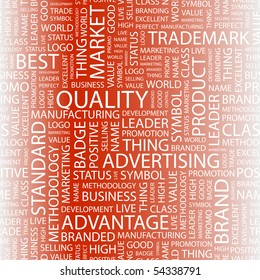 QUALITY. Word collage. Vector illustration.