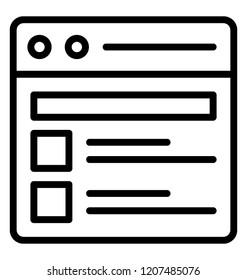 A quantitative research on a website