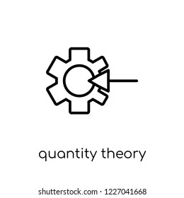 Quantity theory of money icon. Trendy modern flat linear vector Quantity theory of money icon on white background from thin line business collection, editable outline stroke vector illustration