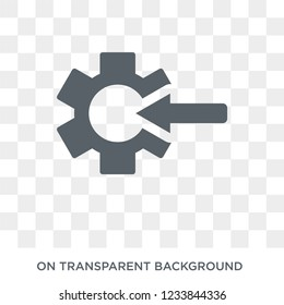 Quantity theory of money icon. Trendy flat vector Quantity theory of money icon on transparent background from business   collection.