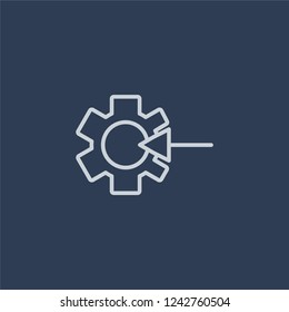 Quantity theory of money icon. Trendy flat vector line Quantity theory of money icon on dark blue background from business   collection.