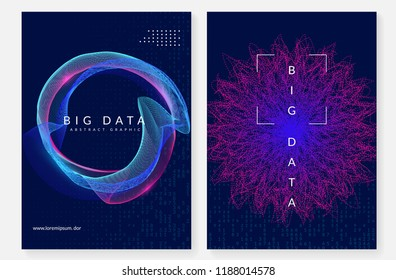 Quantum computing background. Technology for big data, visualization, artificial intelligence and deep learning. Design template for server concept. Digital quantum computing backdrop.