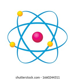 Quantum physical structure of an atom. Vector illustration.