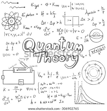 Quantum Theory Law Physics Mathematical Formula Stock Vector