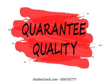 quarantee quality vector card
