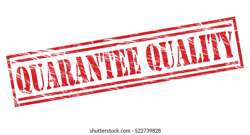 quarantee quality vector red stamp on white background
