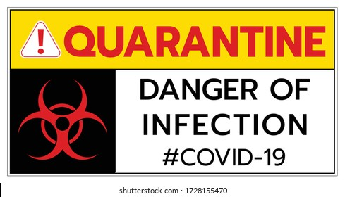 Quarantine covid19 coronavirus caution sign,biological hazard 2019-ncov warning sign font typography warning super spread global worldwide people and business