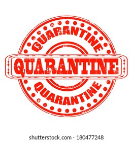 quarantine grunge stamp with on vector illustration