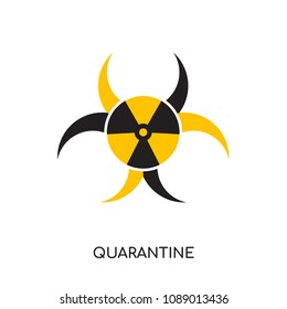 quarantine logo isolated on white background for your web and mobile app design , colorful vector icon, brand sign & symbol for your business, quarantine icon concept