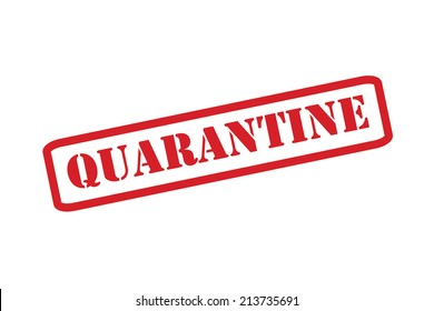 QUARANTINE red rubber stamp vector over a white background.