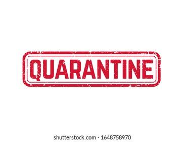 quarantine sign, grunge vector stamp