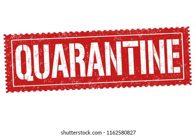 image relating to Quarantine Sign Printable named Quarantine Indicator Pics, Inventory Visuals Vectors Shutterstock