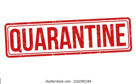 photograph relating to Quarantine Sign Printable called Quarantine Signal Shots, Inventory Visuals Vectors Shutterstock