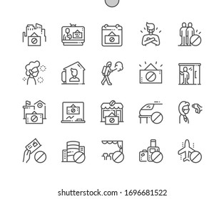 Quarantine Well-crafted Pixel Perfect Vector Thin Line Icons 30 2x Grid for Web Graphics and Apps. Simple Minimal Pictogram