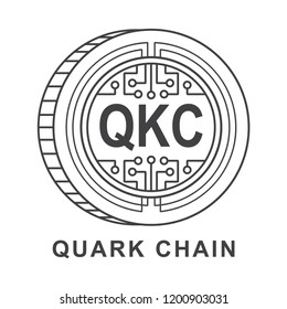 quark chain coin  Cryptocurrency  icon outline