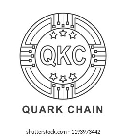 quark chain coin QKC Cryptocurrency  icon outline