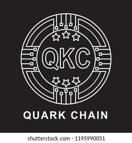 quark chain coin QKC  Cryptocurrency  icon with black background