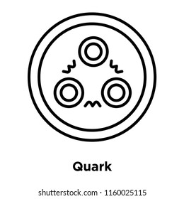 Quark icon vector isolated on white background, Quark transparent sign , sign and symbols in thin linear outline style