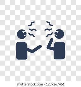 Quarrel icon. Trendy Quarrel logo concept on transparent background from Communication collection