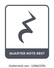 quarter note rest icon vector on white background, quarter note rest trendy filled icons from Music and media collection, quarter note rest simple element illustration