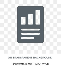 Quarterly report icon. Trendy flat vector Quarterly report icon on transparent background from business   collection. High quality filled Quarterly report symbol use for web and mobile