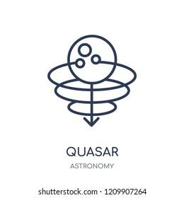 Quasar icon. Quasar linear symbol design from Astronomy collection.
