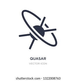 quasar icon on white background. Simple element illustration from Astronomy concept. quasar sign icon symbol design.