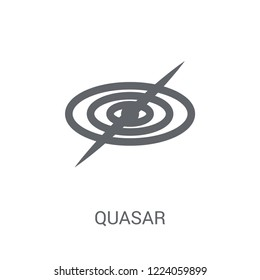 Quasar icon. Trendy Quasar logo concept on white background from Astronomy collection. Suitable for use on web apps, mobile apps and print media.