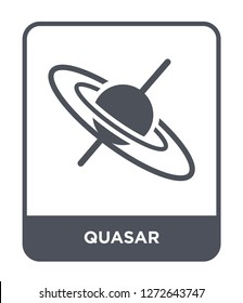 quasar icon vector on white background, quasar trendy filled icons from Astronomy collection, quasar simple element illustration