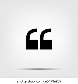 quate sign icon,quatation mark symbol,vector illustration