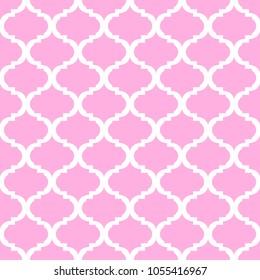Quatrefoil geometric seamless pattern, background, vector illustration