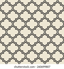 quatrefoil pattern, decorative framework. seamless vector background.