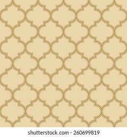 quatrefoil pattern with outlines. seamless vector background.
