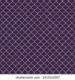 Quatrefoil Seamless Pattern - Classic quatrefoil repeating pattern design