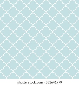 Quatrefoil wave pattern seamless.