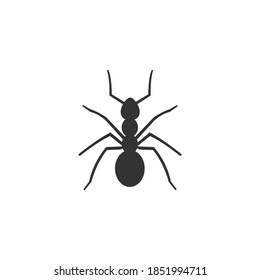 Queen Ant Icon Isolated on Black and White Vector Graphic