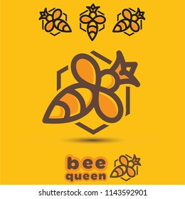 Queen bee concept designed in a simple way so it can be used for multiple purposes i.e. logo ,mark ,symbol or icon.
