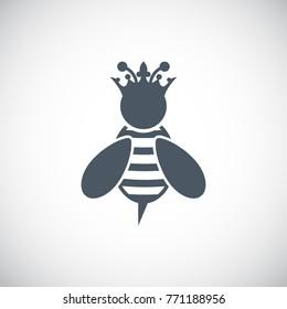 Queen Bee icon. Vector illustration.
