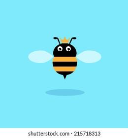 Queen bee,illustration design.